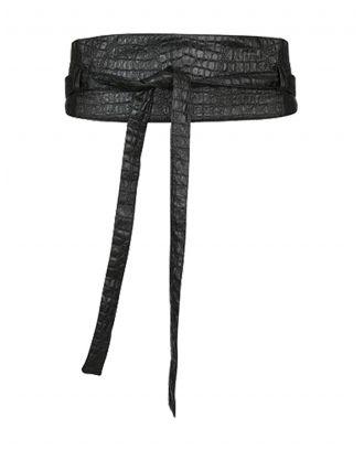 Br&dy Croco belt - Zwart