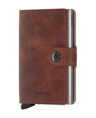 Secrid Wallets Miniwallet Vintage - Bruin