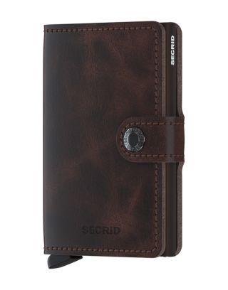 Secrid Wallets Miniwallet Vintage - Tabak