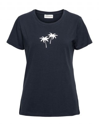 &Co Woman TS101.Palm - Donkerblauw